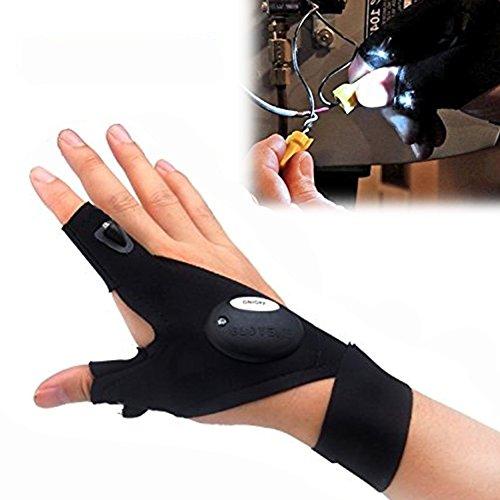 Lampen-Handschuh, Finger-LED-Leuchten, Arbeitshandschuh, Nachtlicht für Outdoor, Radfahren, Camping, Wandern, Angeln, Notfall, Survival, Rettungsaktionen