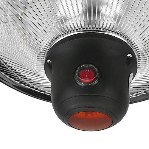 PrimeMatik – Decke Heizung Heizkörper für Innen und Außen Bar Restaurant Terrasse 420mm 1500W mit Fernbedienung - 7