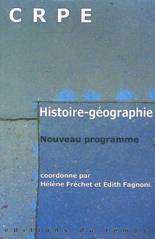 Histoire-Géographie CRPE : Nouveau programme
