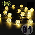 iihome, 36ft(11M) 60 LED String Outdoor IP65 Waterproof Solar Powered Crystal Ball Decorative Lighting 8 Modes for… 6