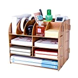 Best Desk Organizers - Desk Organiser, Lesfit Multifunctional Cool Modern Square Makeup Review