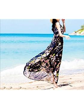 pllp Falda de la playa, vestido de playa de gran tamaño de las mujeres de verano, vestido de gasa de vacaciones...