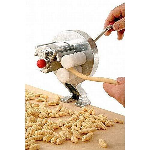 """Maschine für die manuelle Herstellung von \""""Gnocchetti\""""Aus Stahl verchromt und Kunststoff zertifiziert lebensmittelecht.Schnell zu Montieren und Demontieren, ist praktisch auch für die ReinigungSie Brauchen keine Chemikalien oder die Spülmaschine.in wenigen Minuten haben Sie \""""Gnocchetti\"""" hergestellt"""