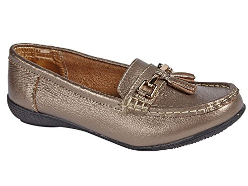 Foster Footwear , Herren Mokkasins Bronze
