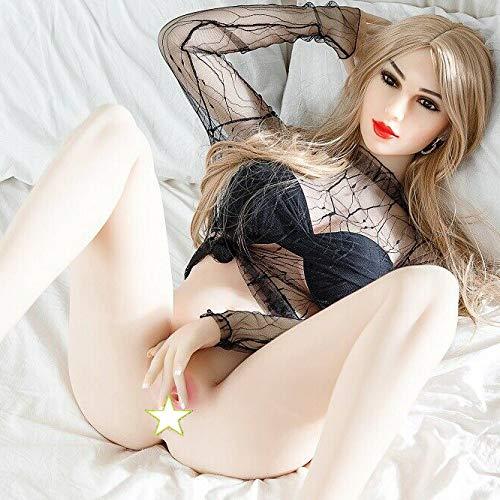 XUESHA 165cm/65 Realität Jungen Mädchen Simulation Freundin Erwachsene Roboter Sexy Spielzeug Puppe Halbfeste Silikon Aufblasbare Puppe Sexpuppe, Lebensechte Liebespuppe, Erwachsene Puppen