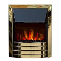 Arundel Remote Control 2KW Electric inset Fire LED Coal Flame Effect - Brass