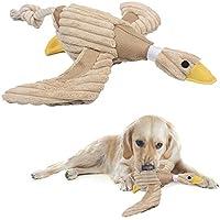 Weiche Plüsch Low Stuffing Ente Hundespielzeug mit Squeaker für kleine Hunde