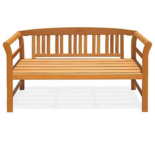 Gartenbank Rose 3-Sitzer  FSC-zertifiziertes Eukalyptusholz  150cm - Bank Holzbank Sitzbank Parkbank