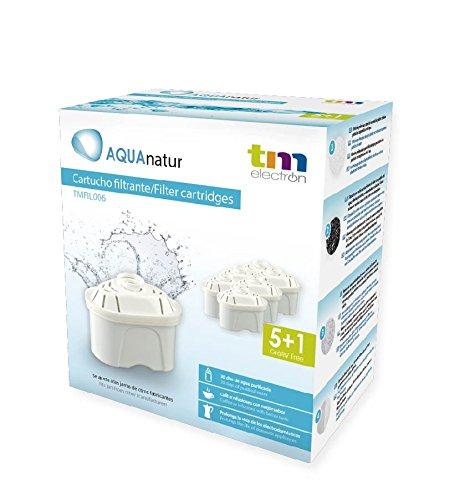 TM Electron TMFIL006 Pack de 6 a 12 meses de filtros de agua compatibles con las jarras Brita...