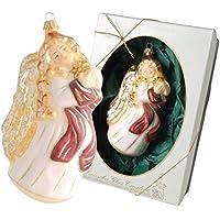 Krebs Glas Lauscha - Adorno para árbol de Navidad (Cristal, 14 cm), diseño de ángel Volando