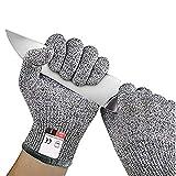 Longzhuo Schnittschutzhandschuhe Sicherheit Schnittfest Handschuhe aus rostfreiem Stahl mit Metallgitter Schnittschutz für die Küche Garten Lebensmittelecht Handschuhe