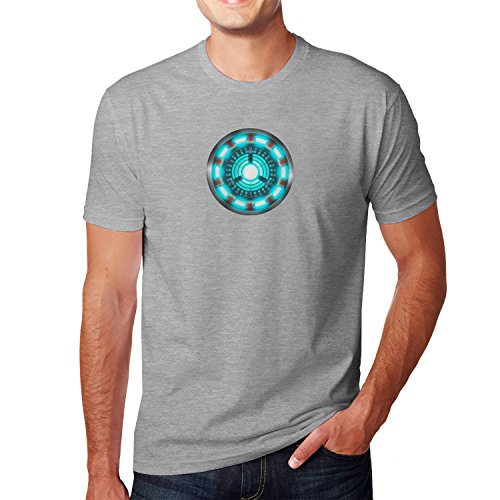 Arc Reactor - Herren T-Shirt, Größe: L, Farbe: grau ()
