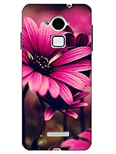 Make My Print Flower Printed Pink Hard Back Cover For CoolPad Note 3