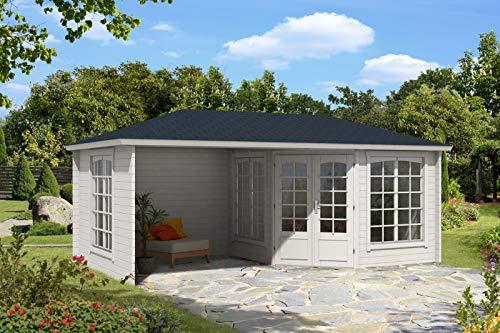 Alpholz 5-Eck Gartenhaus Modell Josephine-40 Royal, 40 mm Wandstärke (598 x 302 cm)
