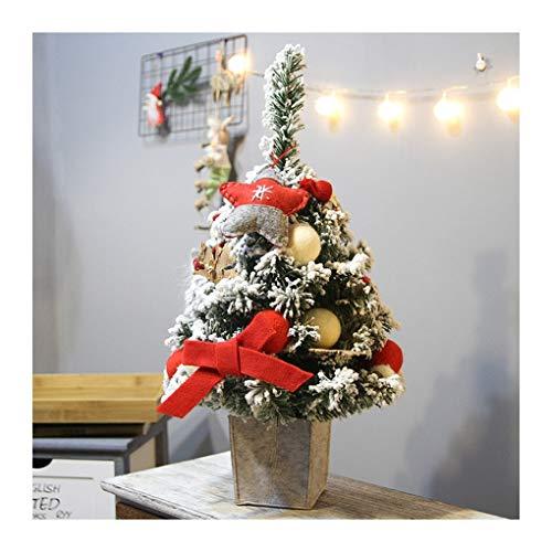 WUFANGFF DIY Künstliche Beflockung Weihnachtsbaum LED Grün Leuchtet Urlaub Weihnachten Fenster Frohe Weihnachten Dekoration Jahr (60 cm), ()