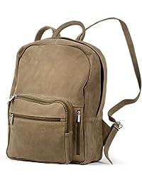"""Grand sac à dos avec compartiment pour ordinateur 15,6 """", pour femmes et hommes, cuir véritable, différentes couleurs, Hamosons 513"""