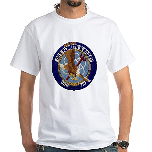 CafePress USS Kenneth D. Bailey DDR Patch T - 100% Cotton T-Shirt