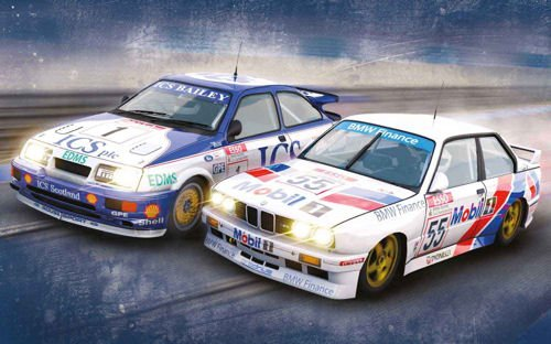 Scalextric - C3693A - Ford Sierra RS500 & BMW E30 M3 - Touring Car Legends