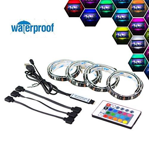 Simfonio lluminación De Retroiluminación LED TV 2M USB LED Tira De Luz Con Control Remoto Para 40 A 60 Pulgadas HDTV, Monitor De PC