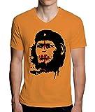 Planet Of The Apes Che Guevara Monkey Design Mens V-Neck T-Shirt