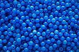 Bastel-Perlen 100 Stück aus lebensmittel echtem Kunststoff freie Farbwahl (14 himmelblau)