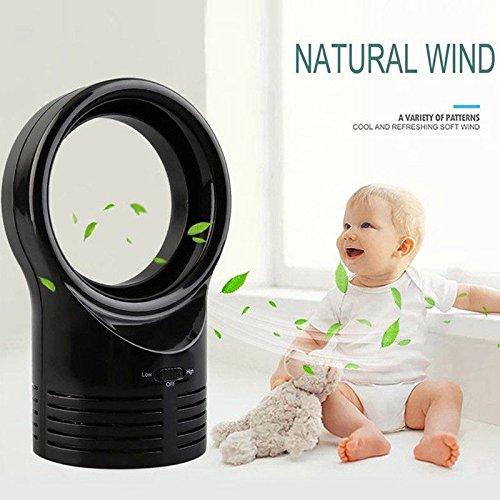 lzndeal ventilatore senza pale mini ventilatore di aria condizionata mini ventilatore senza lama Ventilatore Senza Pale Ventilatore da scrivania per uso domestico