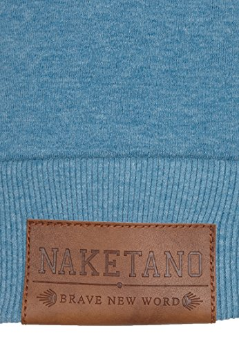 Naketano Female Sweatshirt Debil mit Stil V Light Blue Melange