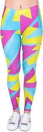 Kukubird Wonderland Patterns Women's Yoga Leggings Gym Fitness Running Tights Size 8-12 Stretchable