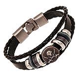 Cool En Cuir Bracelet Pirate Style Bracelet Vintage Bouton De Manchette Bracelet Rock Punk Biker Bracelet Tressé Cordes