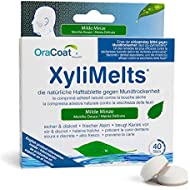OraCoat XyliMelts - 40 Adhesive Discs Against Dry Mouth and Tooth Decay - Mild Mint Flavour
