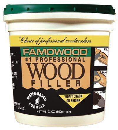 Famowood Latex Wood Filler Red Oak 1 pint by Famowood