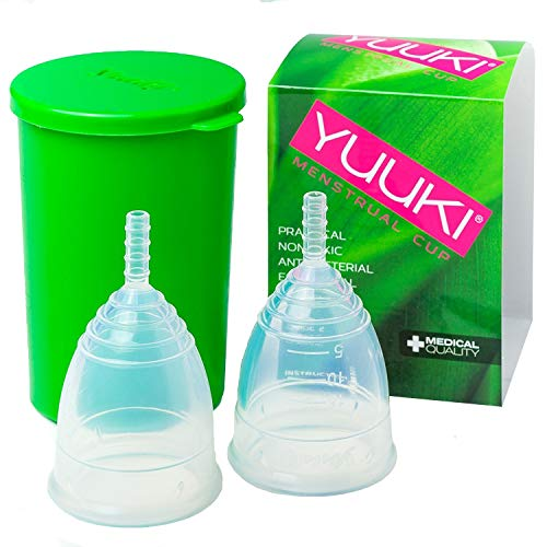 Menstruationstassen Yuuki-Set Soft L und Classic L inkl. Reinigungs-Box Menstruationsbecher Menstruationskappe