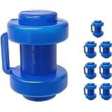 Tosenpo Trampoline-eindkappen, Ø25 mm, blauw, set van 8 eindkappen voor trampoline-netpalen