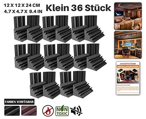 Ace Punch 36 Stücke Bass Trap Absorber Akustikschaumstoff DIY Entwurf Mit Freiem Klebestreifen 12 X 12 X 24 cm (4.7 X 4.7 X 9.4 in) AP1133