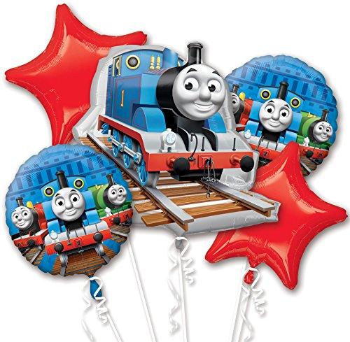 """Folienballon-Bouquet """"Thomas die kleine Lokomotive"""" 5 tlg."""