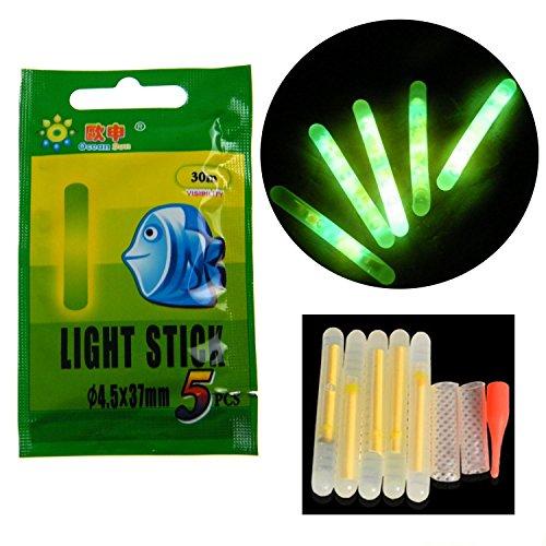 10pcs 20pcs 50pcs lotto bulk glow stick per pesca galleggianti pesca bobbers luminous stick night light wand tubi verde fluorescente illuminazione stick, 50 pcs 4.5*37mm