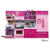 Elektra Dream House Kitchen Set Kids Luxury Battery Operated Kitchen Super Set Toy With Light And Sound Carry Case