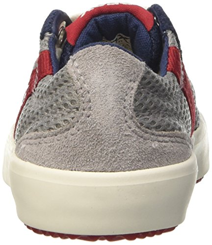 Geox J Alonisso A, Sneakers Basses Garçon Gris (Grey/navyc0665)