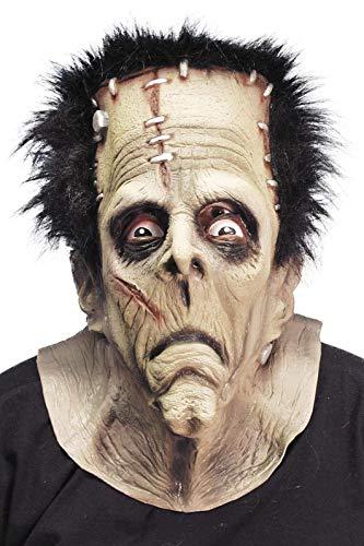 Smiffys Herren Räuber Monster Maske mit Haaren, One Size, 24090 (Halloween-kostüm Ideen Frankenstein)