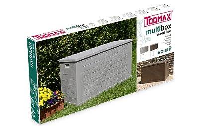 Toomax Kissenbox Multibox Wood 420, Grau von TOOMAX auf Du und dein Garten