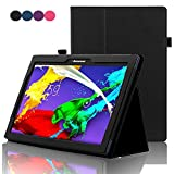 Lenovo Tab 2 A10 Case , ACdream (TM) Stand Leather Cover Case for Lenovo Tab 2 A10-70 10-Inch 16 GB Tablet (2015) Case with auto wake sleep function, Black