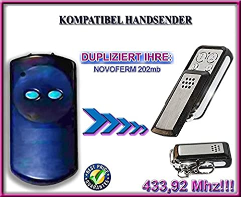 Novoferm 202MB kompatibel handsender, klone fernbedienung, 4-kanal 433,92Mhz fixed code. Top Qualität Kopiergerät!!!