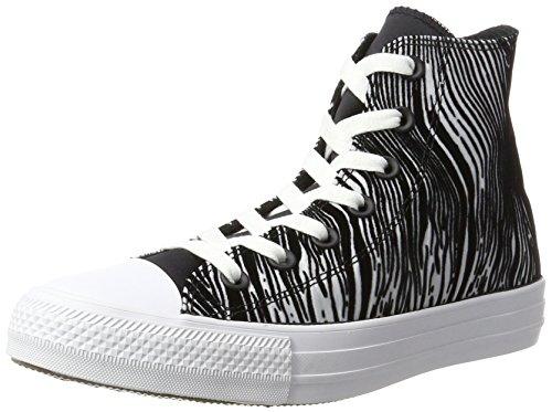 Converse 557953C,CHUCK TAYLOR ALL STAR, Damen Hohe Sneaker, Mehrfarbig (White/Black/White), 37 EU (4.5 UK)