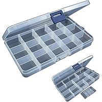 VGEBY1 Angelk/öder Kunststoff-Box 26 Slots Fischk/öder Box Tackles Halter Haken Aufbewahrungskoffer Container Angelzubeh/ör