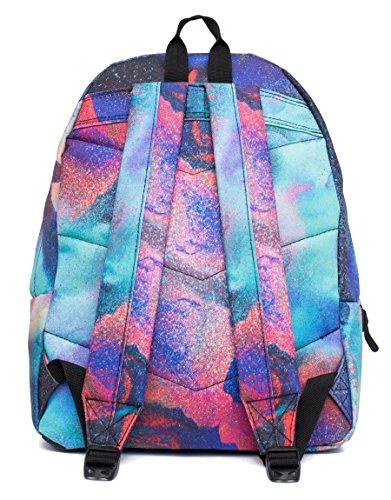 Hype Rucksack Taschen Rucksäcke–Schulranzen–viele neue Farben & Designs–wählen Sie Ihre Favoriten aus 40Styles, Speckled Black/Navy Blue (Schwarz) - Hype bag (Splatter Embroid) Paints