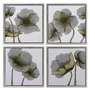 Uttermost Mini Floral Glow I, II, III, IV, Wall Art - Set of 4 by Uttermost Co