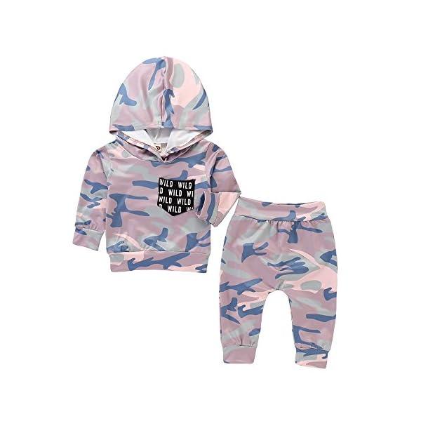 Trisee Ropa Bebe Niño otoño Invierno Trajes de Recién Nacido Camuflaje Manga Larga Camisetas + Pantalones Conjuntos de… 2