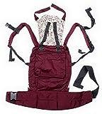 Y-BOA – Original Porte Bébé Ventral/Dorsal - Rouge – Echarpe de portage - Imprimé- Coton –Nouveau-né de 4 mois à 3 ans