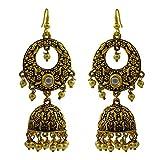 Antique bell-shaped bali jhumki earrings...