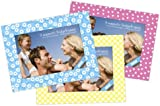 Shot2go personalised magnetic photo fridge frames blue/yellow/pink spring 4x6 3 pack